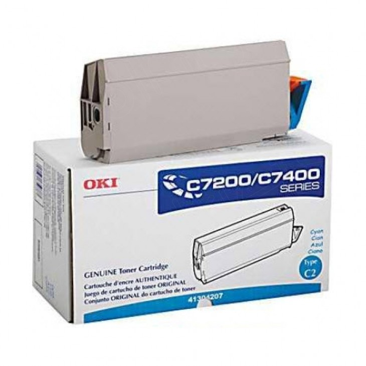 Okidata 41304207 (Type C2) OEM Cyan Laser Toner Cartridge