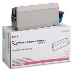 Okidata 41963002 (Type C4) OEM Magenta Toner Cartridge
