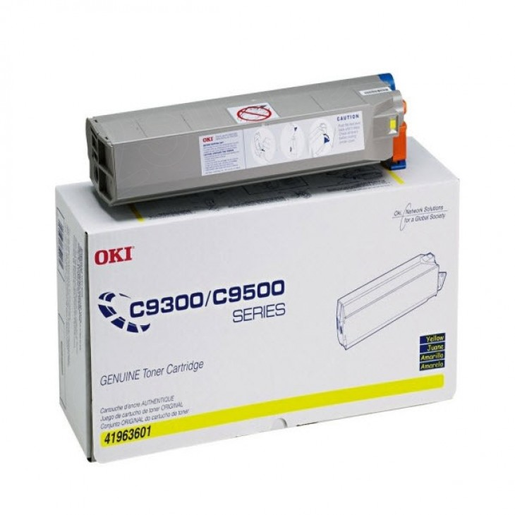 Okidata 41963601 (Type C5) OEM Yellow Laser Toner Cartridge