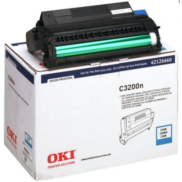 Okidata 42126660 (Type C6) OEM Laser Cyan Drum Unit