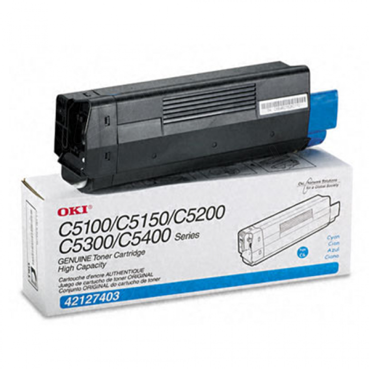 Okidata 42127403 (Type C6) OEM HY Cyan Toner Cartridge