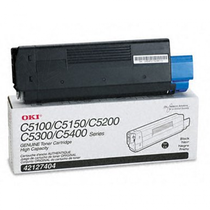 Okidata 42127404 (Type C6) OEM HY Black Toner Cartridge
