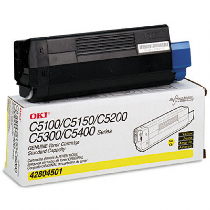 Okidata 42804501 (Type C6) OEM Yellow Laser Toner Cartridge