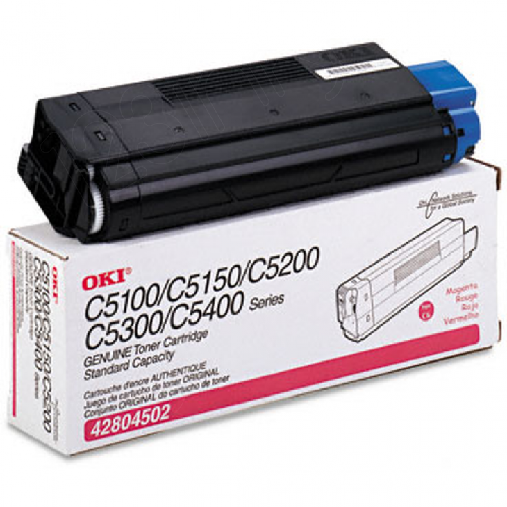 Okidata 42804502 (Type C6) OEM Magenta Toner Cartridge