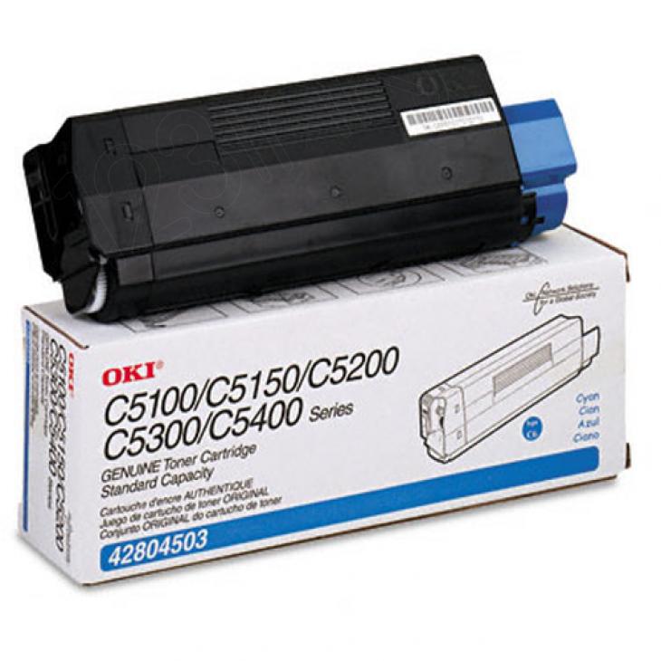 Okidata 42804503 (Type C6) OEM Cyan Laser Toner Cartridge