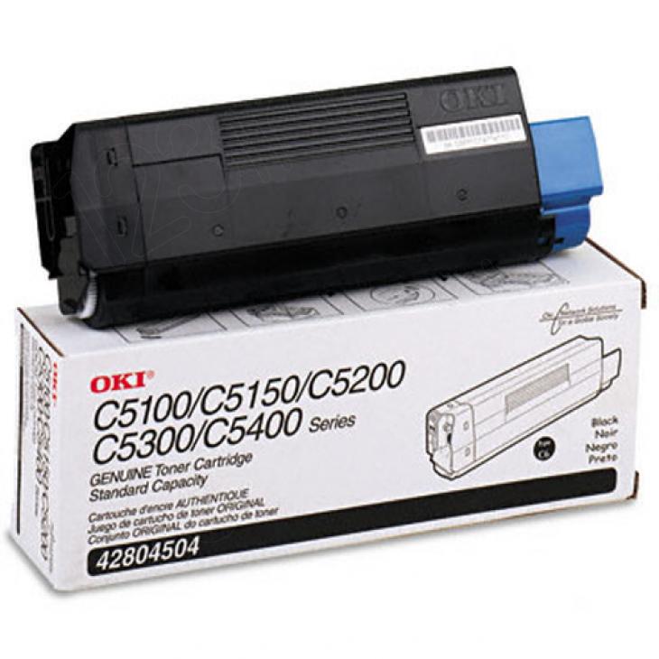 Okidata 42804504 (Type C6) OEM Black Laser Toner Cartridge
