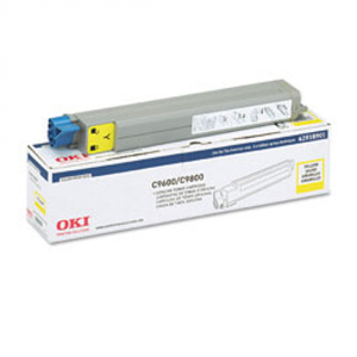 Okidata 42918901 (Type C7) OEM Yellow Laser Toner Cartridge