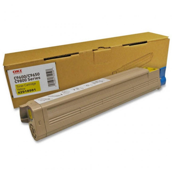Okidata 42918981 (Type C7) OEM Yellow Laser Toner Cartridge