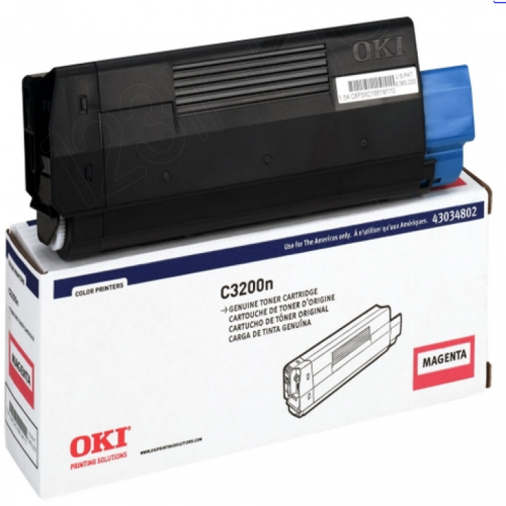 Okidata 43034802 (Type C6) OEM Magenta Toner Cartridge