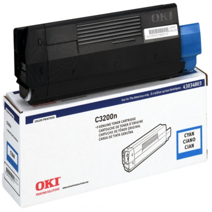Okidata 43034803 (Type C6) OEM Cyan Laser Toner Cartridge