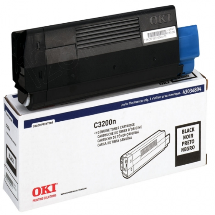 Okidata 43034804 (Type C6) OEM Black Laser Toner Cartridge
