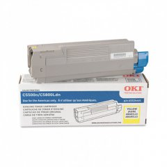 Okidata 43324401 (Type C8) OEM HY Yellow Toner Cartridge