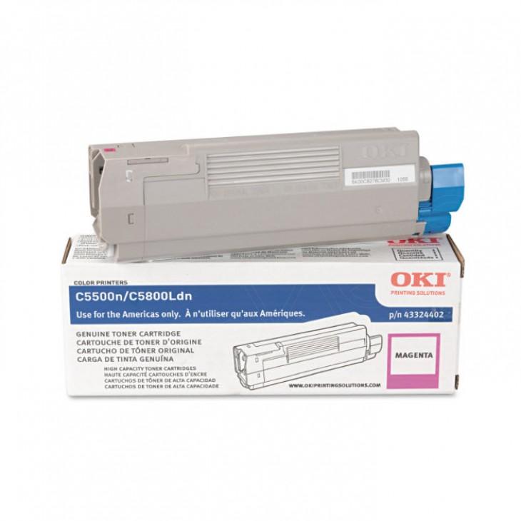 Okidata 43324402 (Type C8) OEM HY Magenta Toner Cartridge