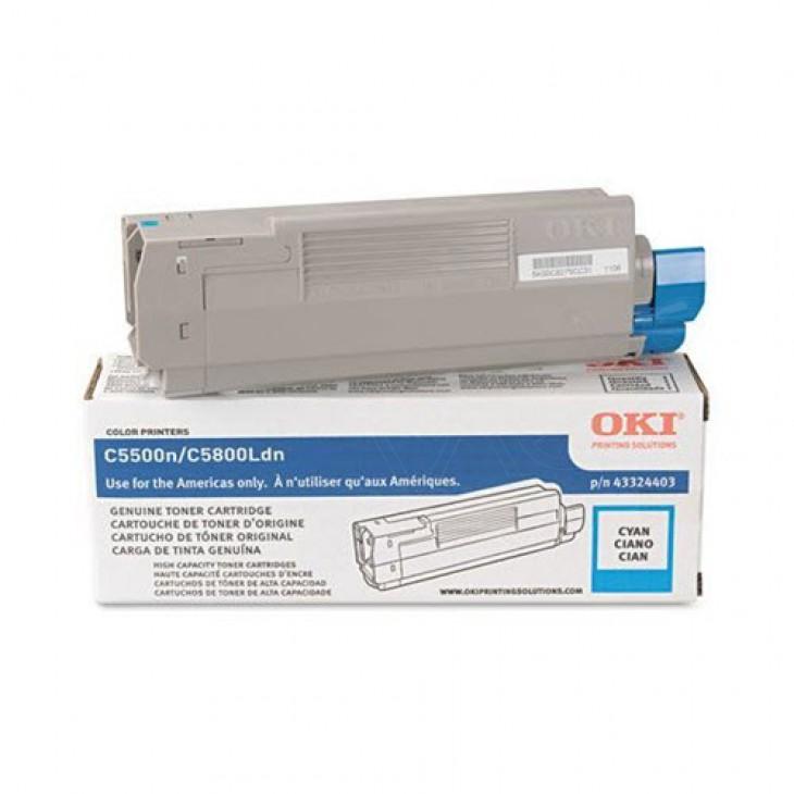 Okidata 43324403 (Type C8) OEM HY Cyan Toner Cartridge
