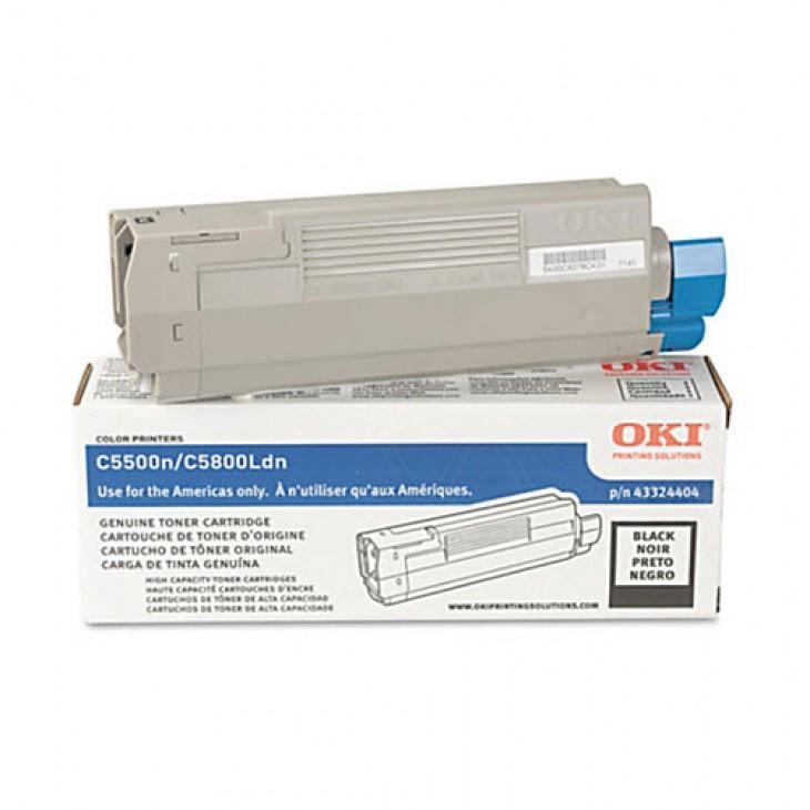 Okidata 43324404 (Type C8) OEM HY Black Toner Cartridge