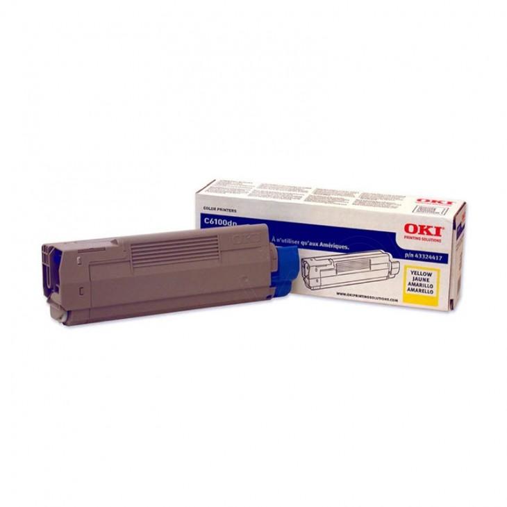 Okidata 43324417 (Type C8) OEM Yellow Laser Toner Cartridge