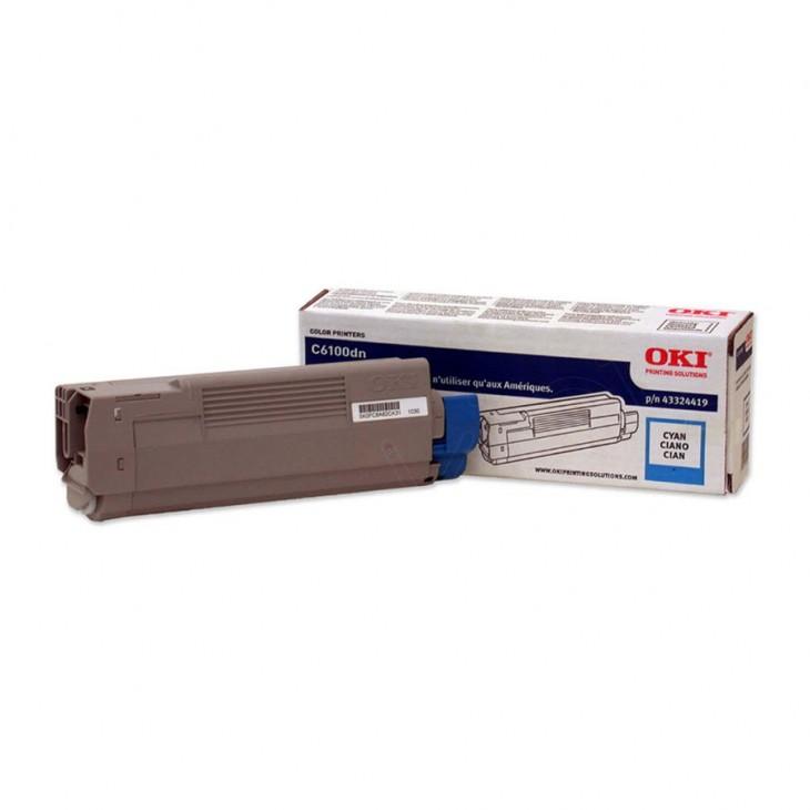 Okidata 43324419 (Type C8) OEM Cyan Laser Toner Cartridge