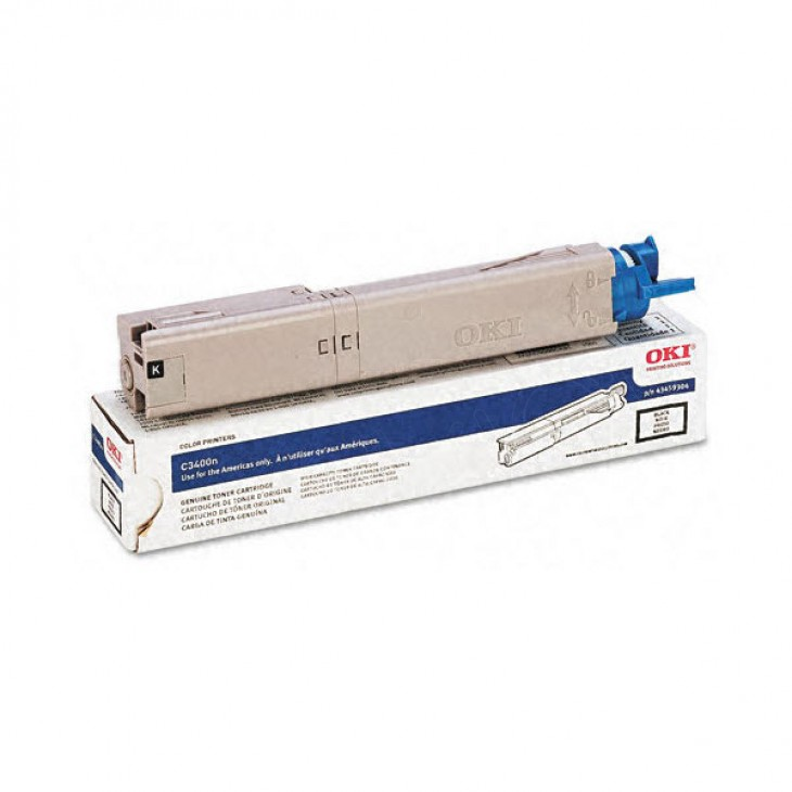 Okidata 43459304 OEM HY Black Laser Toner Cartridge