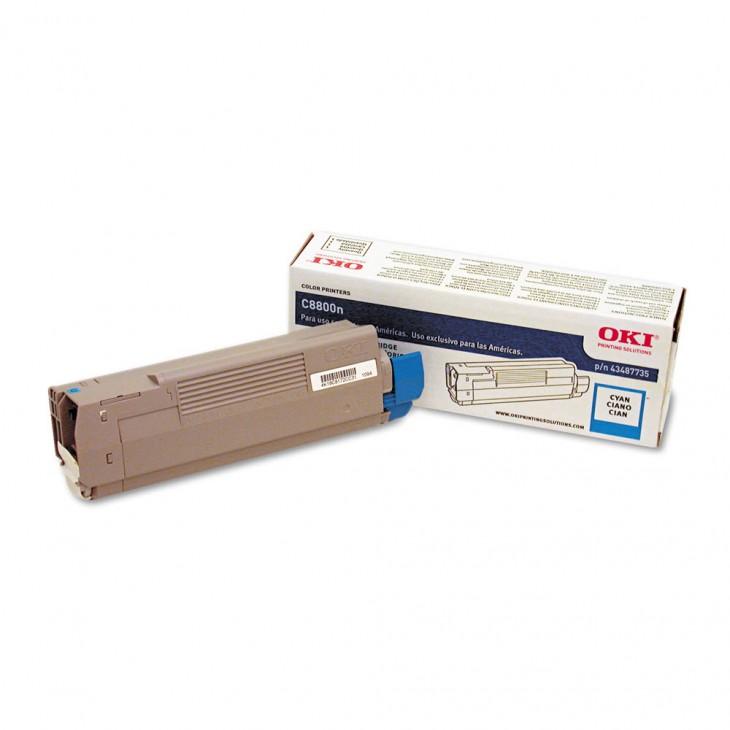 Okidata 43487735 OEM Cyan Laser Toner Cartridge