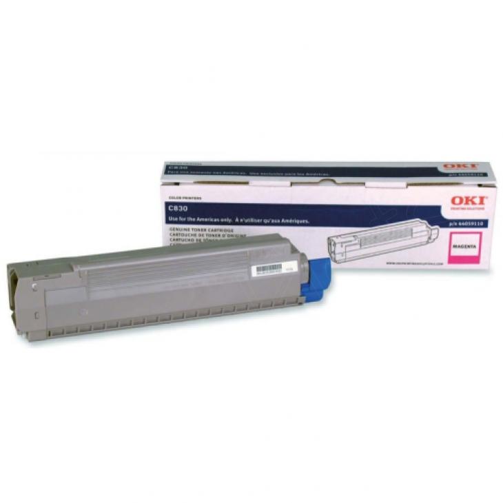 Okidata 44059110 (Type C14) OEM Magenta Toner Cartridge