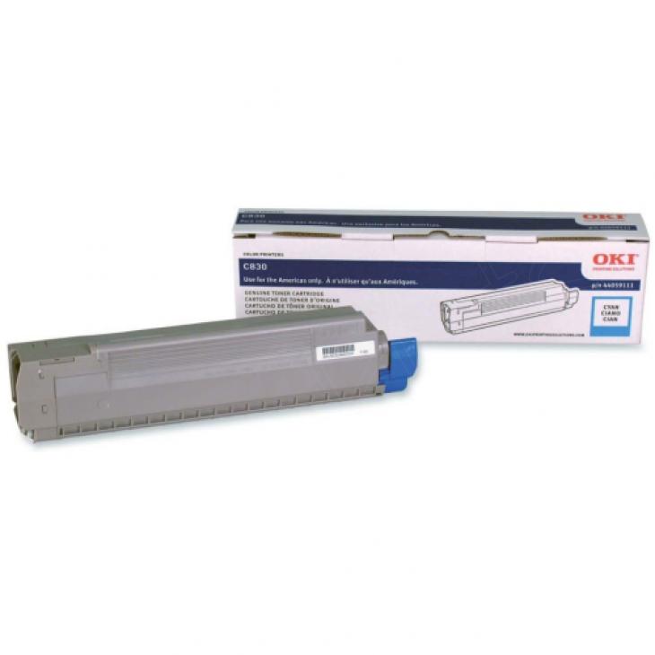 Okidata 44059111 (Type C14) OEM Cyan Laser Toner Cartridge