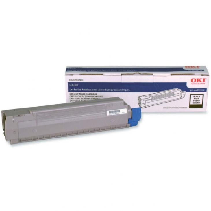 Okidata 44059112 (Type C14) OEM Black Laser Toner Cartridge