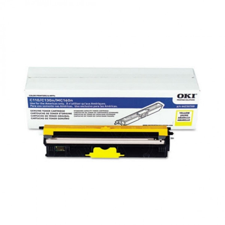 Okidata 44250709 (Type D1) OEM Yellow Laser Toner Cartridge