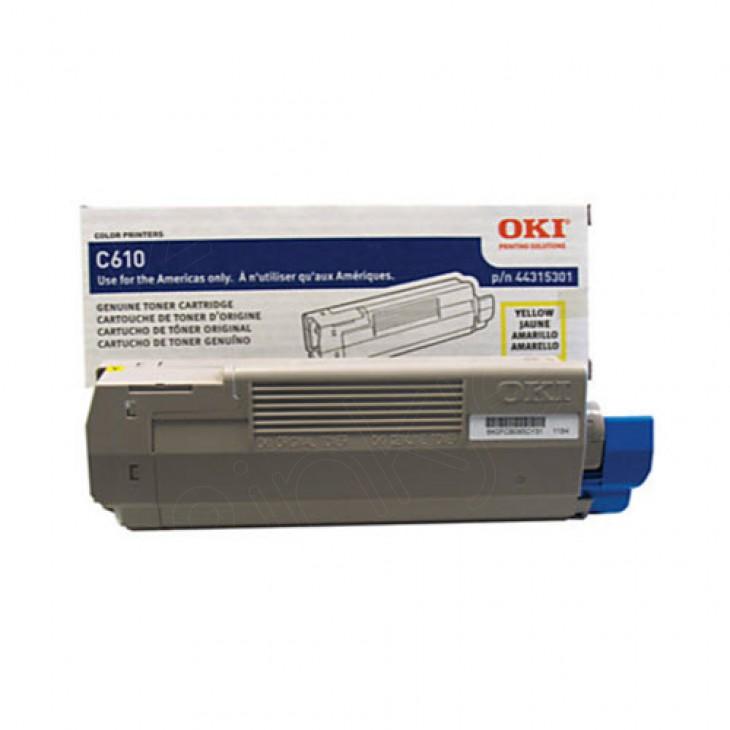 Okidata 44315301 (Type C15) OEM Yellow Toner Cartridge