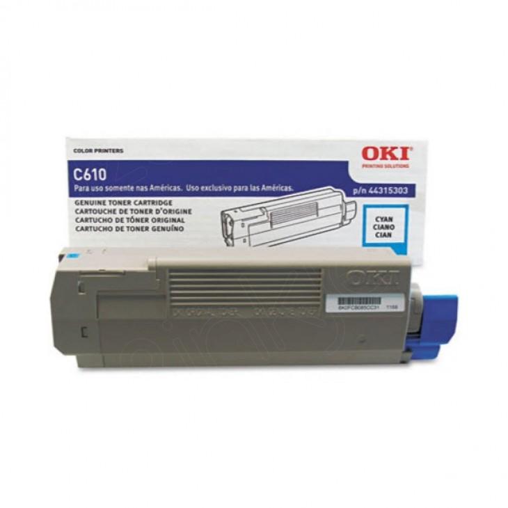 Okidata 44315303 (Type C15) OEM Cyan Laser Toner Cartridge