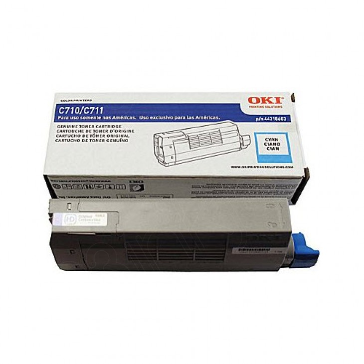 Okidata 44318603 (Type C16) OEM Cyan Laser Toner Cartridge