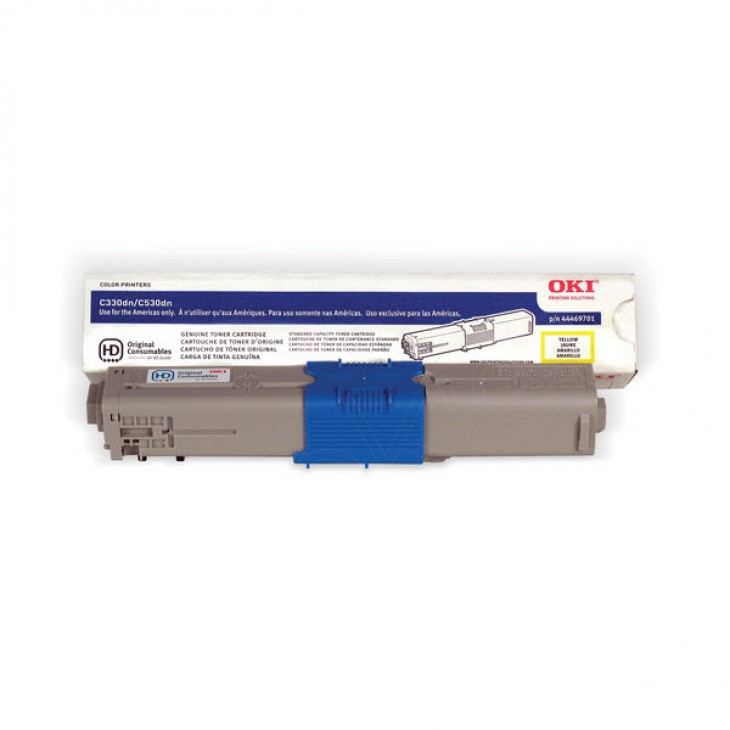 Okidata 44469701 (Type C17) OEM Yellow Toner Cartridge