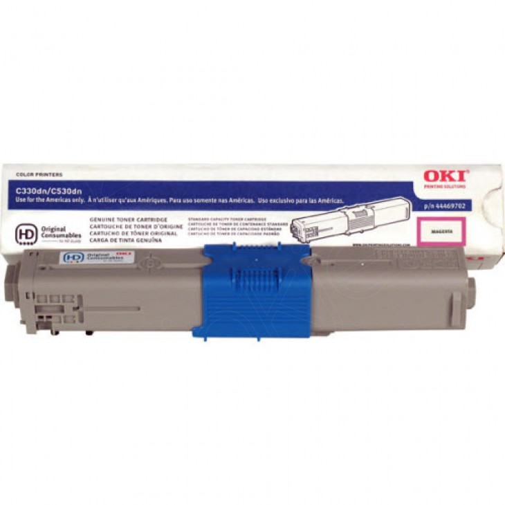 Okidata 44469702 (Type C17) OEM Magenta Toner Cartridge
