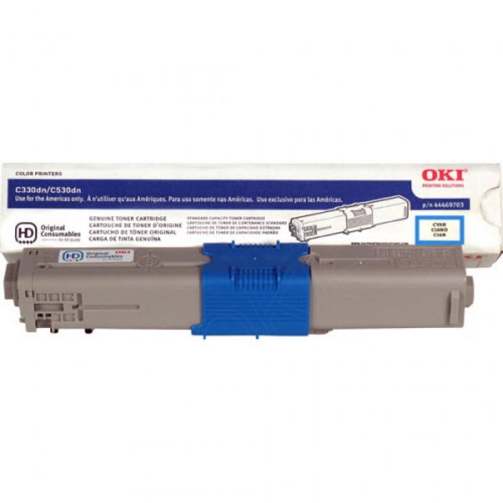 Okidata 44469703 (Type C17) OEM Cyan Laser Toner Cartridge