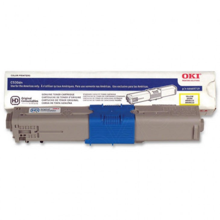 Okidata 44469719 (Type C17) OEM HY Yellow Toner Cartridge
