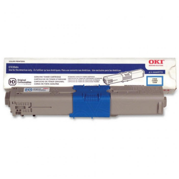 Okidata 44469721 (Type C17) OEM HY Cyan Toner Cartridge
