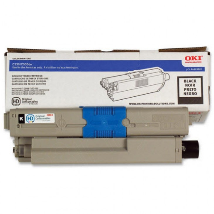 Okidata 44469801 (Type C17) OEM Black Laser Toner Cartridge