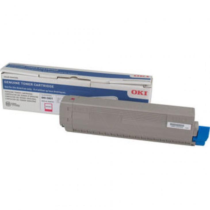 Genuine Okidata C831 Magenta Laser Print Cartridge