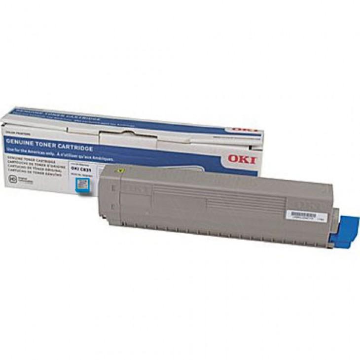 Genuine Okidata C831 Cyan Laser Print Cartridge