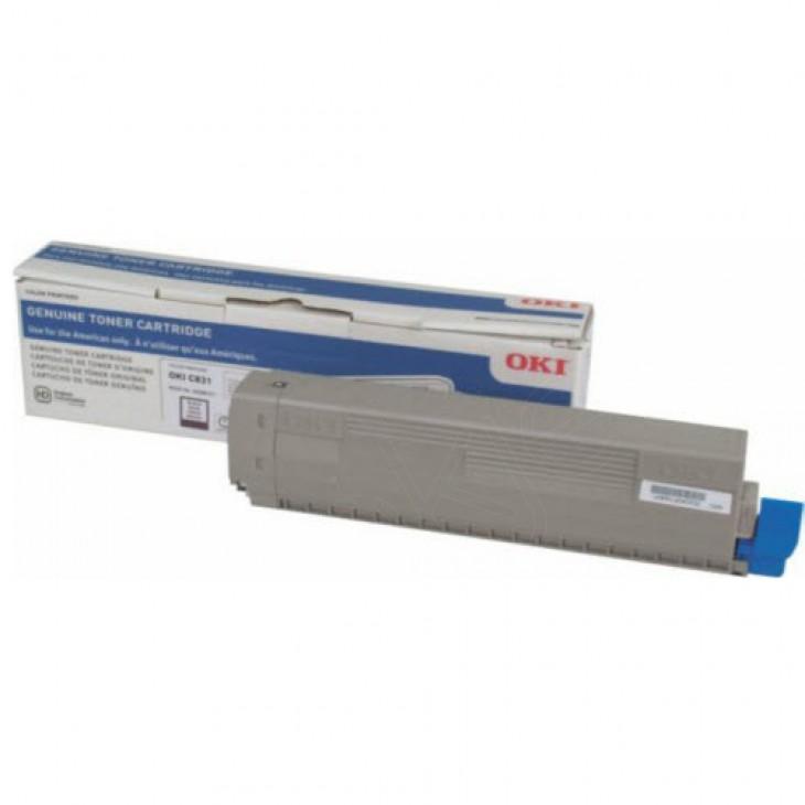 Genuine Okidata C831 Black Laser Print Cartridge