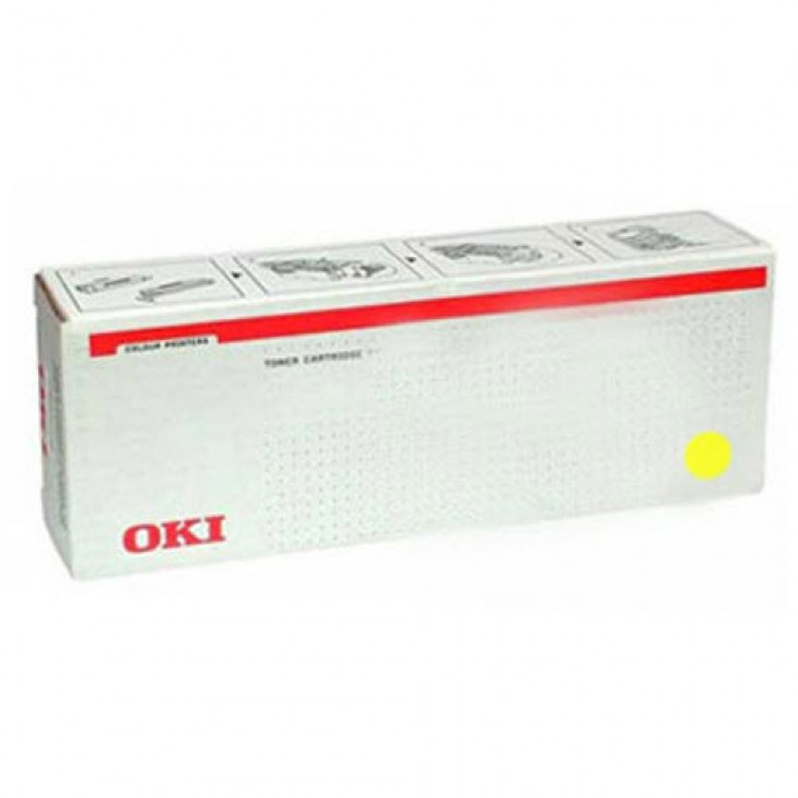 Okidata 45536421 Yellow OEM Laser Toner Cartridge