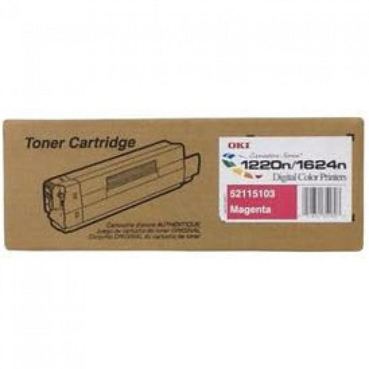 Okidata 52115103 (Type 6) OEM Magenta Laser Toner Cartridge