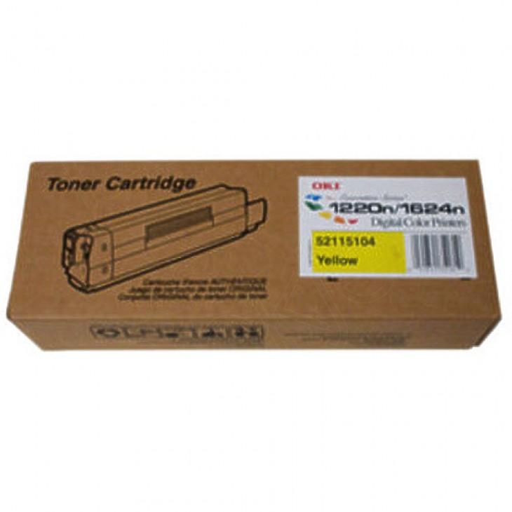 Okidata 52115104 (Type 6) OEM Yellow Laser Toner Cartridge