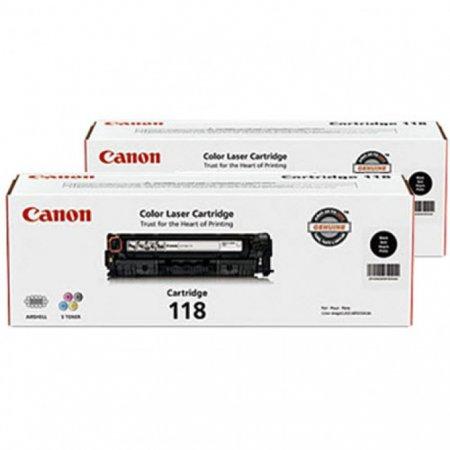 Canon Original 118 Black Toner, 2 Pack