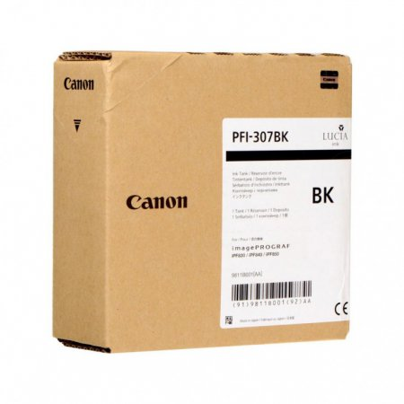 Original Canon PFI-307BK Black 330ml Inku00a0