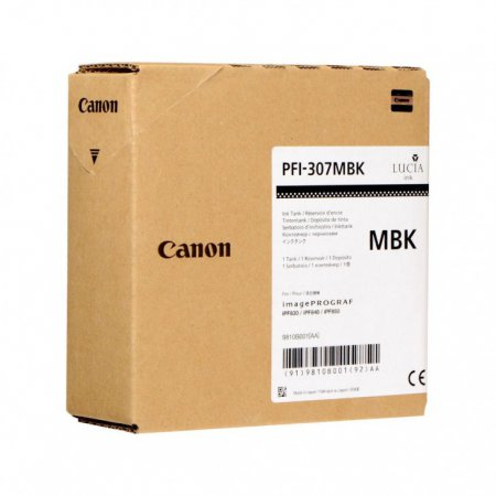Original Canon PFI-307MBK Matte Black 330ml Inku00a0