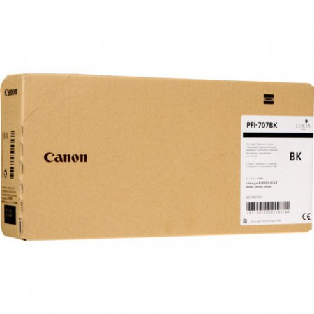 Original Canon PFI-707BK Black 700ml Inku00a0