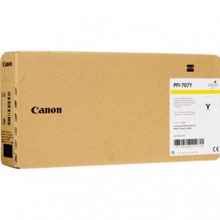 Original Canon PFI-707Y Yellow 700ml Inku00a0