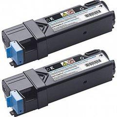 Dell OEM 2150cdn Black Toner, Dual Pack