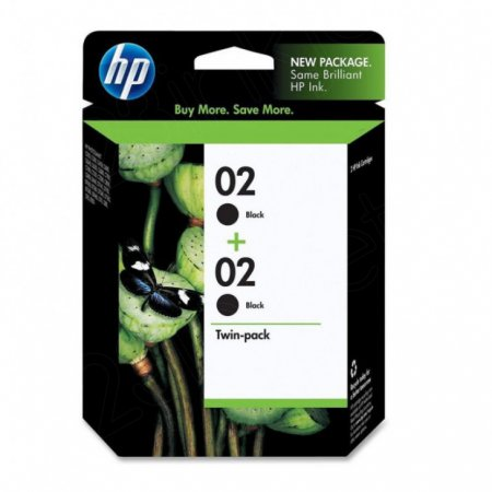 Original HP 02 Black Ink Pack