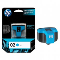 Original C8771WN (HP 02) Ink Cartridges, Cyan